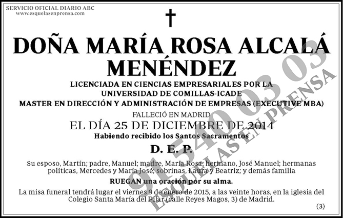 María Rosa Alcalá Menéndez